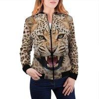 Женский бомбер 3D Леопард